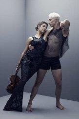 Tuned ... Sydney Dance Company's Thomas Bradley and Australian Chamber Orchestra's Madeleine Boud.