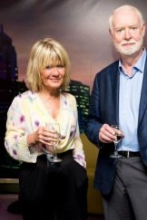 Bowing out: Margaret Pomeranz and David Stratton at the <i>At the Movies</i> farewell party on Tuesday.