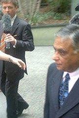 Jayant Patel outside the Brisbane Supreme Court yesterday.