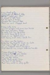 Original lyrics for Ziggy Stardust, by David Bowie, 1972.