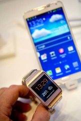 Tech stars: Samsung Galaxy Gear smart watch (left) and the Samsung Galaxy Note 3.