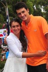 Bernard Tomic with his younger sister Sara.