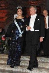 Brian Schmidt with Sweden's Crown Princess Victoria.