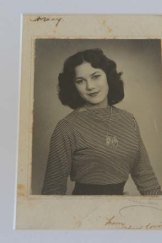 Wayne Young's mother in Cape Town during the 1950s.