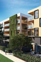 Designs for new apartments proposed for Bowman Street in Macquarie.