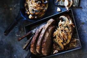 Adam Liaw's mushroom and tarragon toast