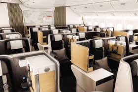 Flight test: Business class takes up half the plane on this airline