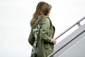 Clothing company sells its take on Melania's jacket