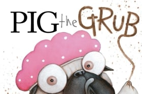 Pig the Grub by Aaron Blabey tops the children's bestsellers' chart.