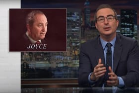 Comedian John Oliver lays into scandal-plagued Barnaby Joyce.