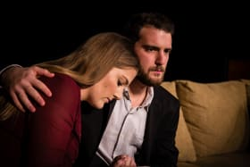 Rachel Slee (Clea) and Dominic Di Paolo (Neil) in A Single Act.