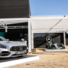 The high-tech and luxurious marquees at the Australian Grand Prix