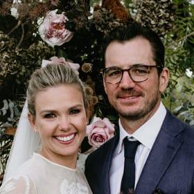 Edwina Bartholomew weds her long-time beau