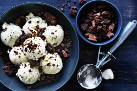Adam Liaw's cheat's biscuit crumble ice-cream