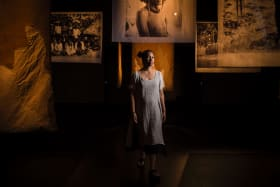 Katerina Teaiwa with her installation 'Project Banaba'.