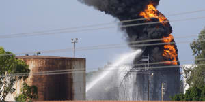 Oil tank fire in southern Lebanon contained,energy minister says