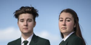 Springwood High students Ian Tjoelker and Ayesha Kelly speak out about what it's like trying to learn at a school without proper heating and cooling.