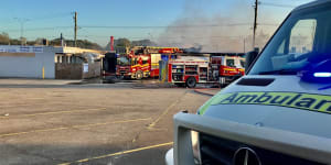 Investigation launched into cause of blaze that ripped through several stores