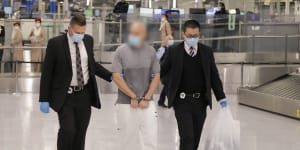 One of the two men,aged 36 and 38,charged over their alleged involvement in importing 2.8 tonnes of ice.