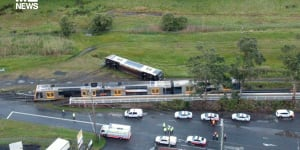A man has been arrested over a train derailment on the South Coast railway line.