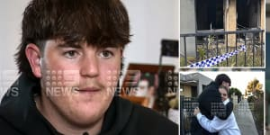 Hero teen saves 'panicking,screaming' girl and her dog from Perth house fire