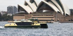 One Sydney's new River Class ferries on Sydney Harbour on Thursday.