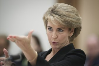 Minister Michaelia Cash in Senate estimates on Wednesday.