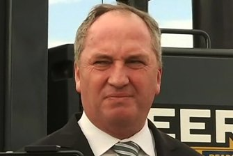 Barnaby Joyce in Tamworth on Monday.