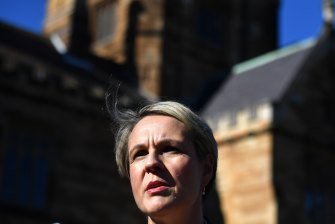 Shadow education spokeswoman Tanya Plibersek says Labor would penalise colleges and universities if behaviour doesn't change.