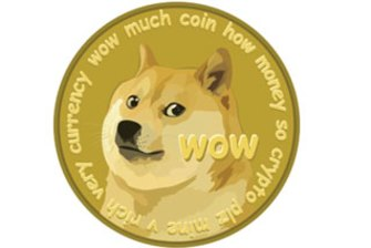 The dogecoin logo.