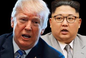 US President Donald Trump and North Korean leader Kim Jong-un.