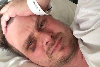 Mr Morley in hospital.