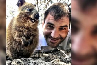 Roger Federer's famous Quokka selfie.