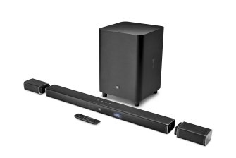 The system comes with a wireless subwoofer.