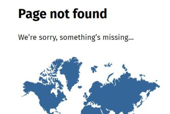 In on the joke: The 404 error page on NZ government websites.