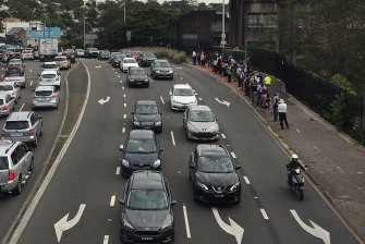 Victoria Road traffic: The impact of the Harbour Bridge traffic drama stretched across the city.