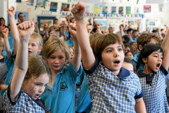 The public school system is seeing a surge in enrolments, but there are fewer schools.