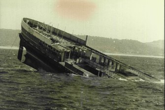 The Dee Why ferry scuttled off Long Reef.