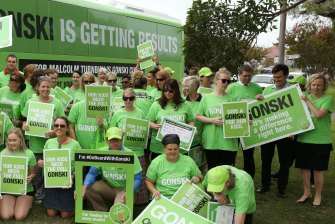 "The Australian Education Union last campaigned on school funding under the banner: ""I Give a Gonski."""