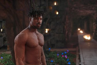 Michael B. Jordan in Black Panther, which was made by Marvel, which is owned by Disney.