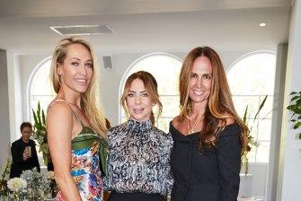 Erika Heynatz, Kate Ritchie and Tash Sefton at the Jockey event.