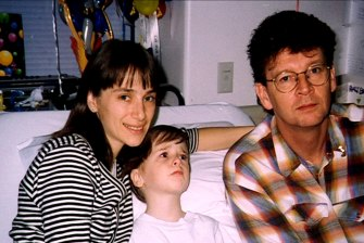 Elly, Samuel and Symons in 1996.