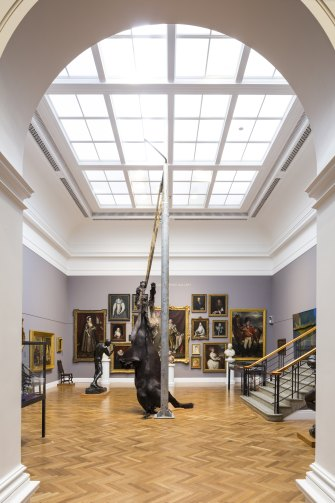 "In AGSA's Melrose Wing of European Art, Mitzevich hung a sculpture of two headless horses, ""We Are All Flesh"", by Berlinde De Bruyckere."