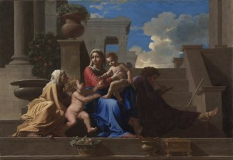 The Holy Family on the steps by Poussin (1684)