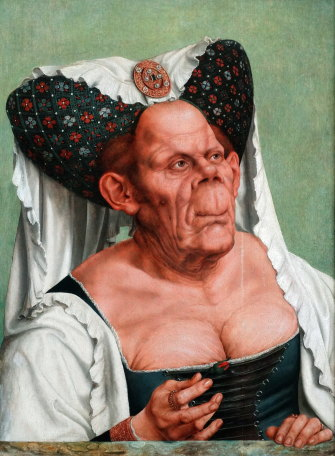 There is no evidence that the duchess was a real person:Quentin Matsys'sThe Ugly Duchess(c.1513)