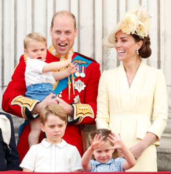 William, Kate, Louis, George and Charlotte.