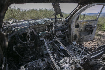 Mrs Miller's car was destroyed by fire.