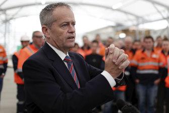 Labor leader Bill Shorten on the campaign trail in Melbourne.