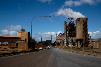 BlueScope's No.5 blast furnace. The company is betting existing technology has a few decades to run.