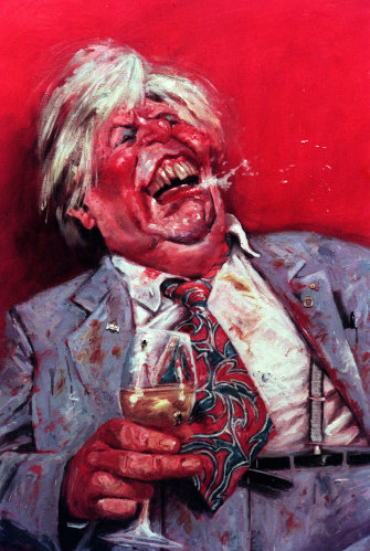 Bill Leak's Archibald Packing Room Prize of Sir Les Patterson in 2000.
